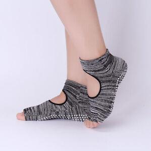2 Pairs Women Sport Yoga Socks Pilates Sock Open Toe Five Finger Sock Non Slip