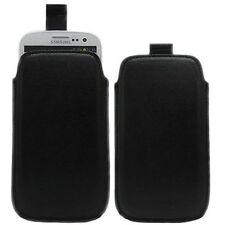 Pellicola + Custodia Cover Borsa Pull Tab Pouch per Samsung Galaxy S3 Mini Nera