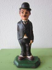 XRARE ANTIQUE CAST IRON CHARLIE CHAPLIN STATUE DOORSTOP 1915 KEYSTONE FILMS