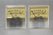 2 pcs ANALOG PANEL VU meter Yellow SCALE -20…+3dB, 250 uA, NOS !