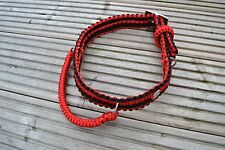 Paracord Dog Collar - Double Cobra Belt Style with Grab Handle