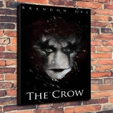 "The Crow Brandon Lee Movie Printed Box Canvas Picture A1.30""x20"".Deep 30mm Frame"