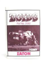 Zoids Zoid Vintage OER Instruction Sheet Fiche Zaton Original