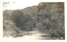 1940s Santa Clara California Los Gatos Creek RPPC real photo postcard 12586