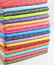 Seventeen (17) FAT QUARTER Fabric Bundle Great Quilting Fabric  Poppy