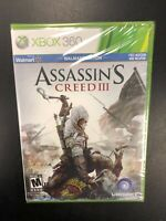 Assassin's Creed III 3 Xbox 360 Brand New Factory Sealed NIB Complete CIB