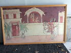"""Vintage Egyptian scene Tapestry Room Wall Hanging 58""""x32"""" unframed cotton Snyder"""