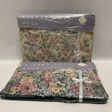 Vintage Eileen West Victorian Tapestry 2pc Twin Sheet Set Flat Fitted New Sealed