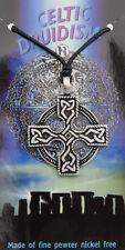 Collier pendentif croix celtique bretonne irlande en etain  7045-D8A