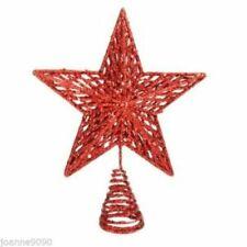 Decorazioni rossi in plastica per albero di Natale