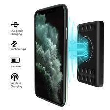 5000mAh Portable Power Bank Battery Qi Wireless Charging Dual Usb Type-C Fast