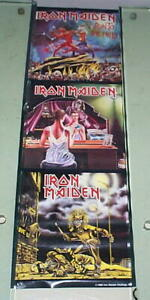 IRON MAIDEN 1988 Vintage 3 LPS Poster & FREE POSTER