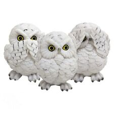 BRAND NEW THREE WISE OWLS GARDEN ORNAMENT