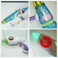 Disney Toy Story Buzz Lightyear Foam Ball Space Rifle + Light Up Blaster Gun LOT