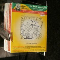 New Monograms Hot Iron Transfers Aunt Marthas #3739