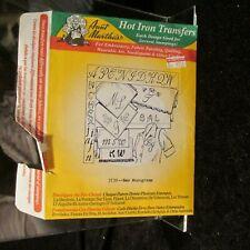 New Monograms Hot Iron Transfers Aunt Marthas #3739