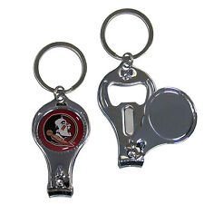 florida state seminoles logo ncaa 3 in 1 nail care bottle opener keychain