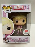 NEW! FUNKO POP! MARVEL #213 UNMASKED GWENPOOL WALGREENS EXCLUSIVE