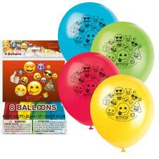 "Emoji 8 Latex 12"" Balloons Birthday Party"