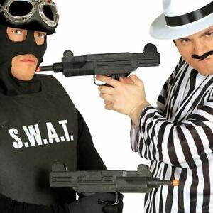 Toy Uzi Machine Gun with Sound Gangster Army Soldier Fancy Dress Accessory Prop