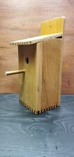 Hand-Made Nest Box. Re-Purposed Oak. Stained and Sealed. Rustic Bird House.