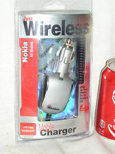 NEW JUST WIRELESS CELL PHONE MOBILE CAR CHARGER FOR NOKIA FITS ALL MODELS 03206