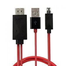 MHL de Micro USB (5 Pines) A Hdmi (tipo A) - Cable para la conexión de Sony Xperia Z U...
