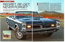 1967 PONTIAC GTO CONVERTIBLE 389/360 HP TRI-POWER ~ NICE 5-PAGE ARTICLE / AD