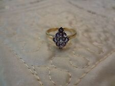 #34--VINTAGE STERLING SILVER RING--TGGC-925--SIZE-9 1/4--GOLD TINT BAND