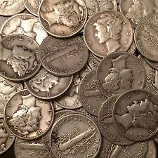 1 Roll (50 Coins) 90% Silver Mercury Dimes - $5 FV
