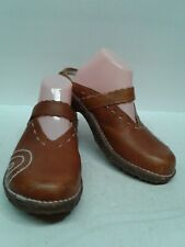 El Natura Lista Brown Slip On Shoes Frog Shock Clog Sz 41 US 7.5 Loafer Leather