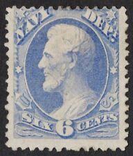 US # O38 *MINT OG H* { NAVY DEPARTMENT 6c LINCOLN } OFFICIAL OF 1873 CV$ 150.00