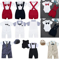 Kids Baby Boy Gentleman Romper Birthday Wedding Formal Coat Jacket Suit Costume