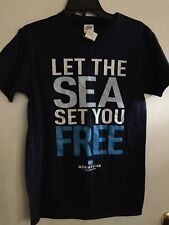 NCL Let The Sea Set You FREE Blue T-Shirt Size Adult Small