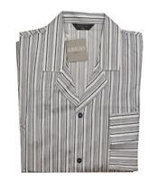 Grigio Perla Striped Cotton Pajama Top XL
