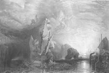 ULYSSES & CYCLOPS Homer Odyssey ~ 1863 Mythology SEASCAPE Art Print Engraving