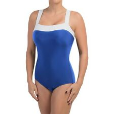 NEW MAGICSUIT MIRACLESUIT SWIMSUIT $150 18 48 Slimming Color Block Royal Blue
