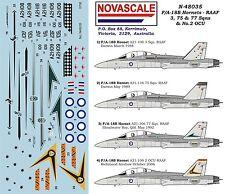 RAAF F/A-18B Hornet 3,75&77Sqn Decals 1/48 Scale N48035