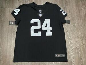 Nike Oakland Raiders Marshawn Lynch Vapor Elite On-Field Jersey 52 851612-015