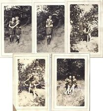 1910s Loving Playful Teen Girls Bathing Beauties Swim Suit Caps Beach Photos (5)