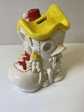 Vintage B. G. Ca. crea 1979 Old Lady In A Shoe piggy bank 5.5� X 3�