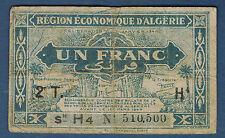 ALGERIE - 1 FRANC Pick n° 101. de 1944. en TB  N°510,500 H4