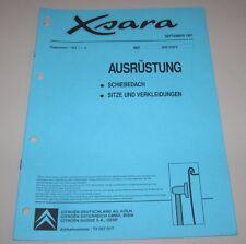 Werkstatthandbuch Citroen Xsara Schiebedach Sitze + Verkleidung September 1997!