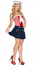 Vintage Sailor Girl Costume Patriotic Nautical Halloween Adult Size Medium