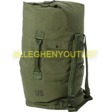 US Army Military Duffle Bag Sea Bag OD Nylon Top Load 2 Strap NO WRITING EXC