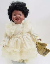 """PORCELAIN 12"""" SEYMOUR MANN """"AMBER"""" DOLL SCULPTOR: MICHELE SEVERINO TAGS & STAND"""