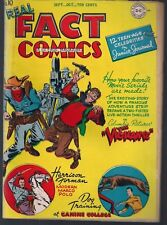 REAL FACT COMICS #10 DC 1947 THE VIGILANTE FAMOUS DISASTERS CIVIL WAR WEAPON FN+