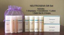 NEUTROGENA Shampoo Conditioner Lotion Bath Gel 2 Soap 6pc Travel GIFT SET w/Bag