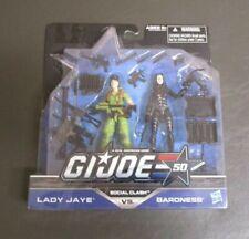 Lady Jaye vs Baroness 2 Pack G.I. JOE COBRA 25th 50th Anniversary MOC