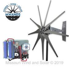 Missouri Freedom 12 Volt 1600 Watt 9 Blade Wind Turbine Generator Kit - Gray